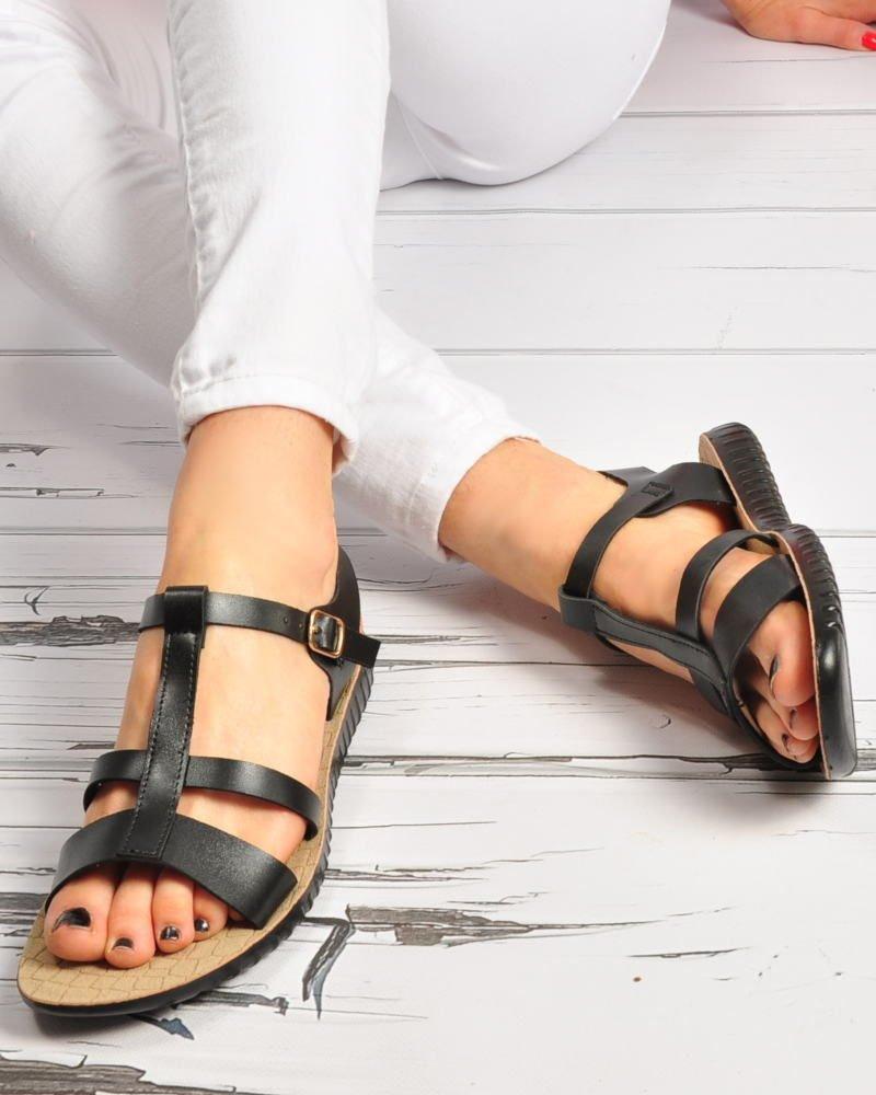 sandały z miękkiej skórki