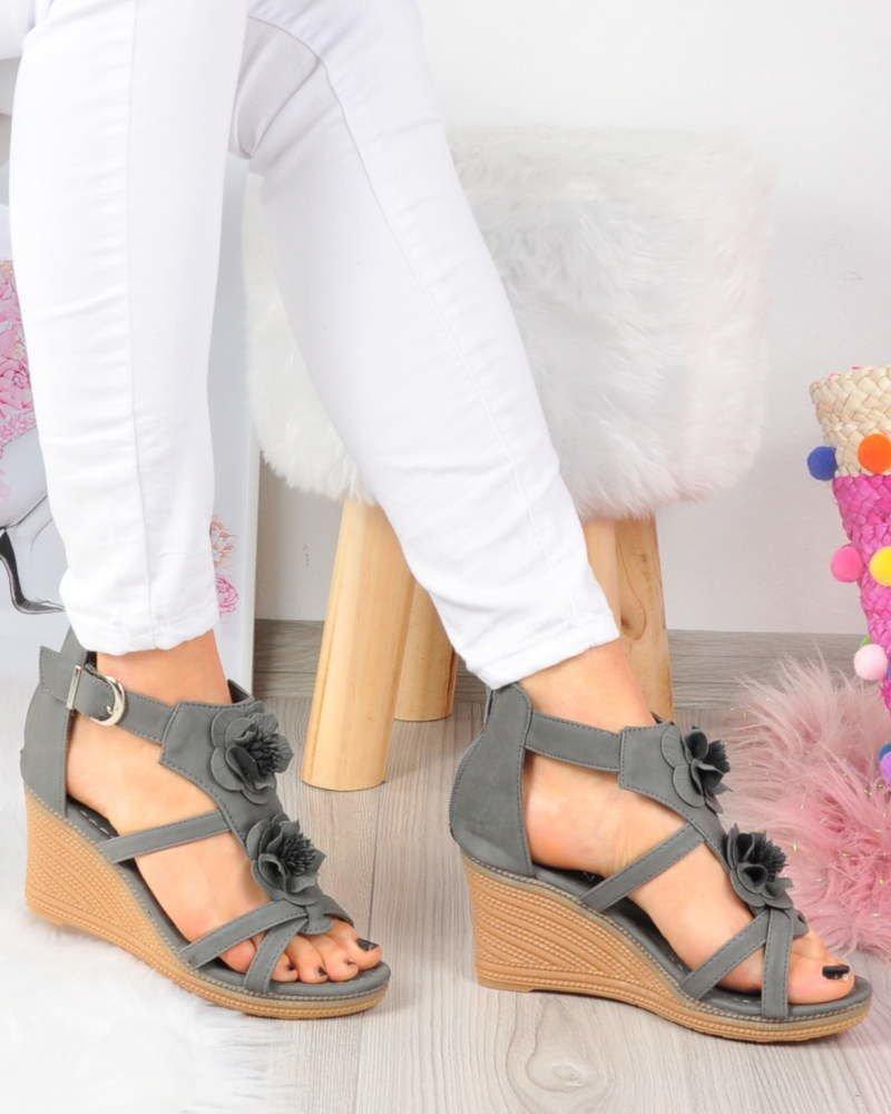 sandały platforma 2 cm