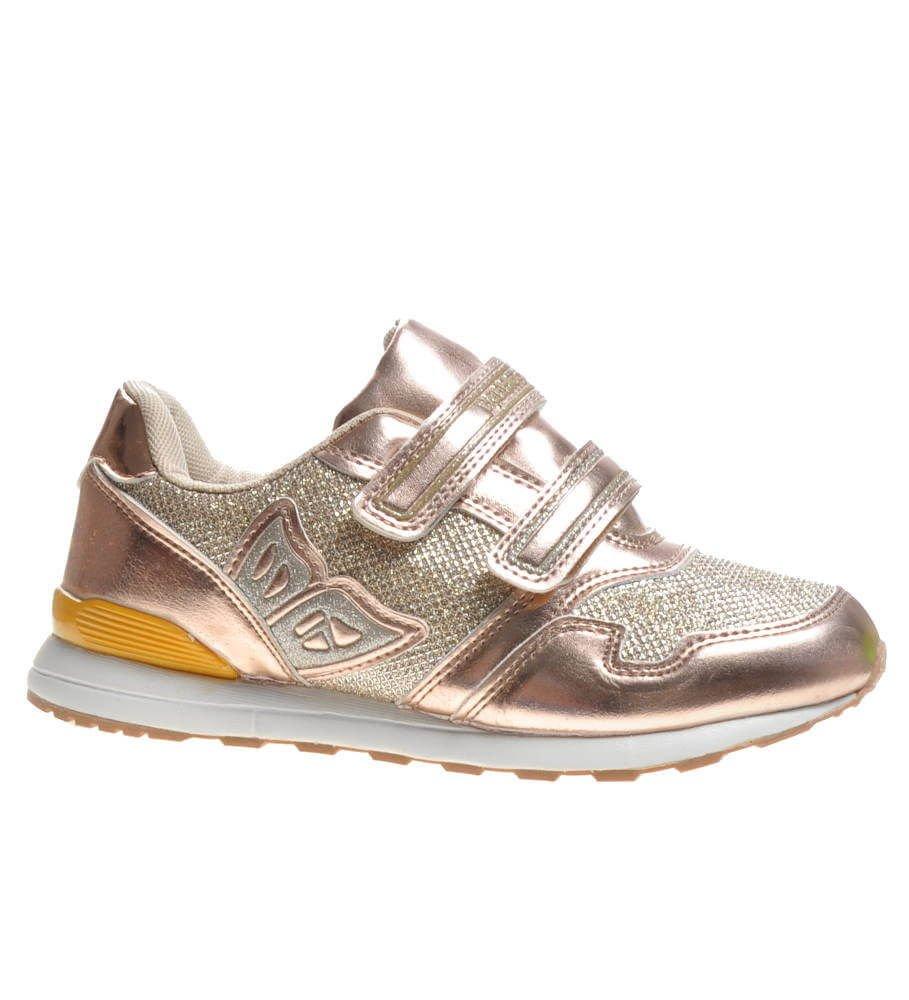 Błyszczące buty sportowe dla dziewczynki Złote F1 3 4417 S170
