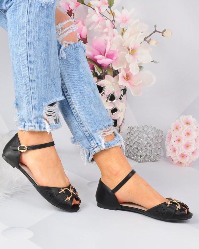 sandały damskie czarne z apinane na pięciewyprzedaż 2019