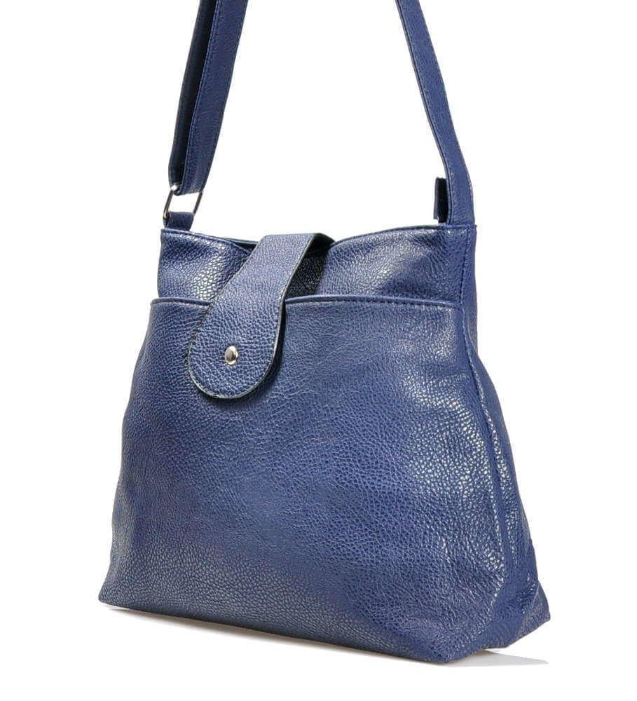 Granatowa torebka damska na ramię shopper bag TR135 S240