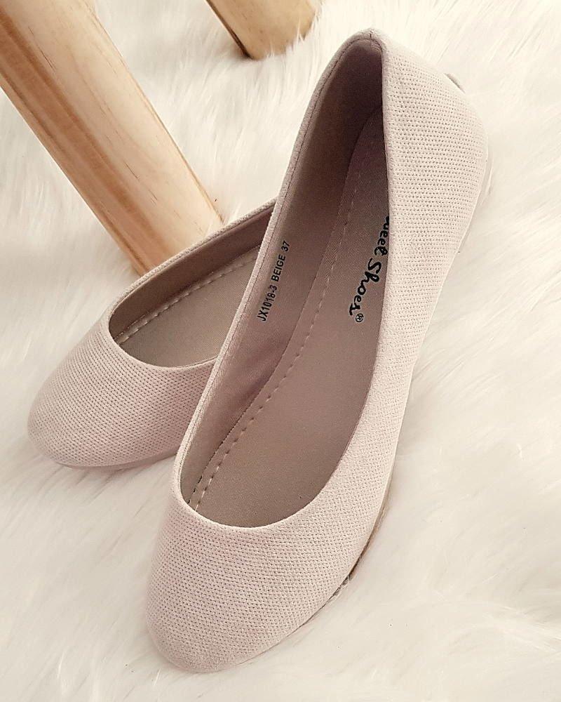 f78d4f69 Zamszowe balerinki- buty na wiosnę BEŻOWE /B5-1 2780 S197/ ...