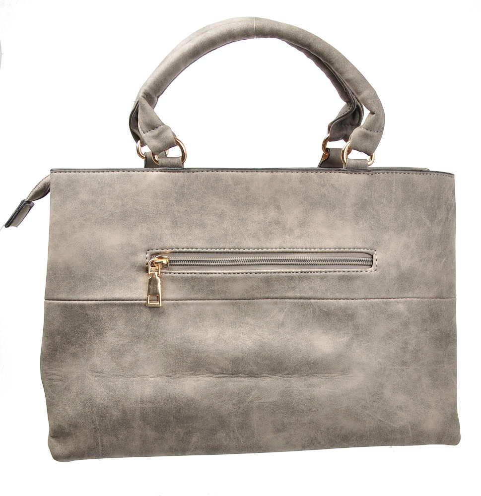 c16f5e13a6250 ... Modna damska torebka z przywieszką SZARA  HT128 S4  ...