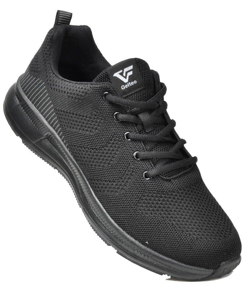 Sznurowane buty sportowe Gelteo CZARNE xx 3204 S513