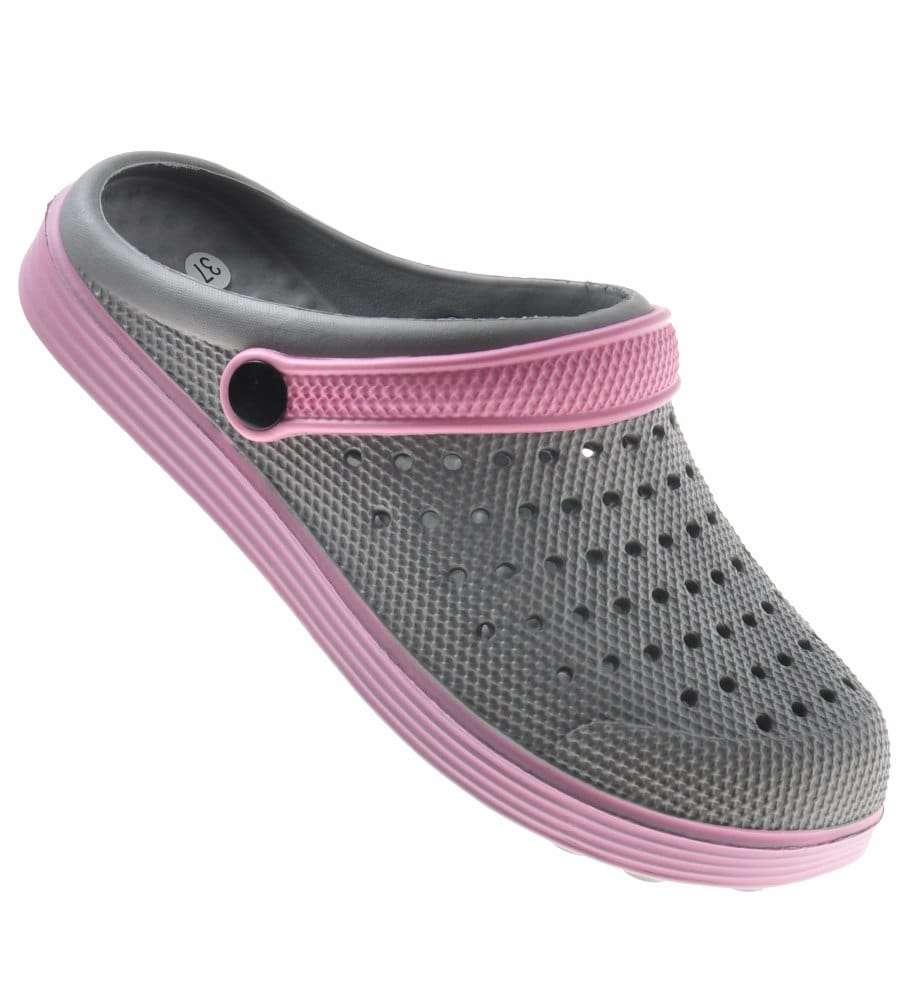 Klapki - sandały buty na plażę Szaro-różowe