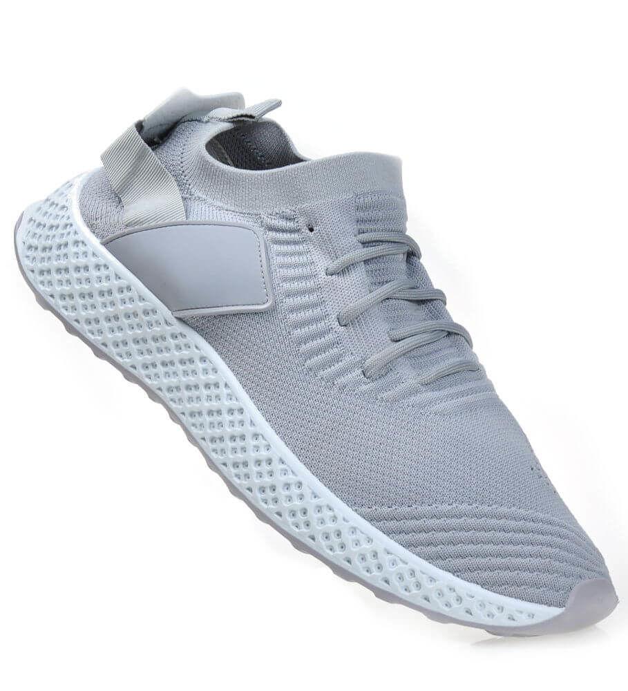Elastyczne męskie buty sportowe Szare B3 2 4274 S271