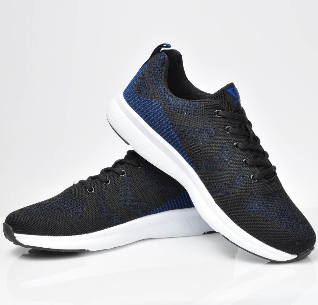 056ea98f31e72 ... Sznurowane buty sportowe Gelteo Granatowo Czarne /E1-1 3204 S513/ ...