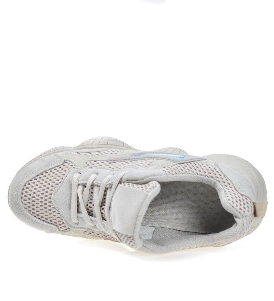 Lekkie sportowe buty damskie Beżowe Outlet D1 3 4285 S171
