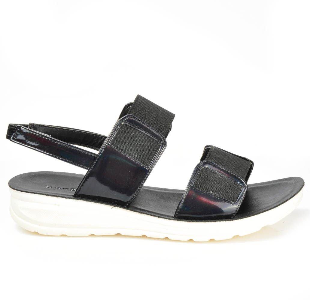 8001672d6b08d ... Wygodne damskie sandały z gumkami CZARNE /F1-3 3254 S192/ ...