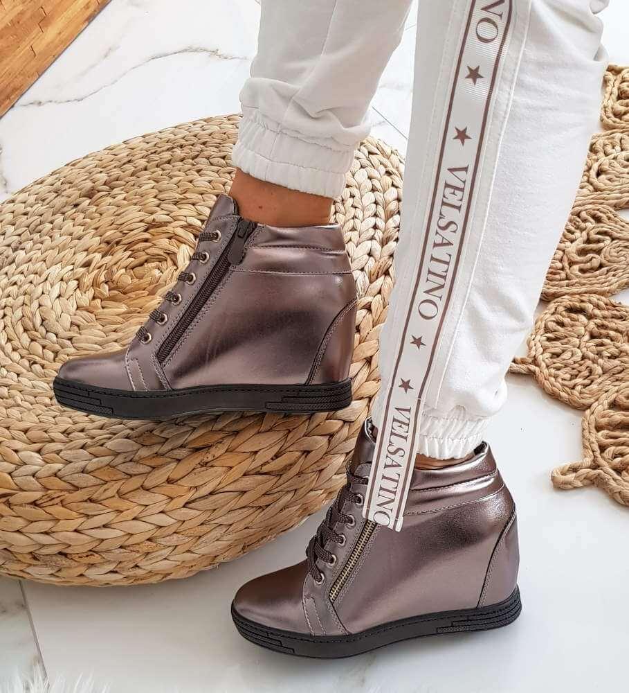 Modne trampki sneakersy na ukrytym koturnie