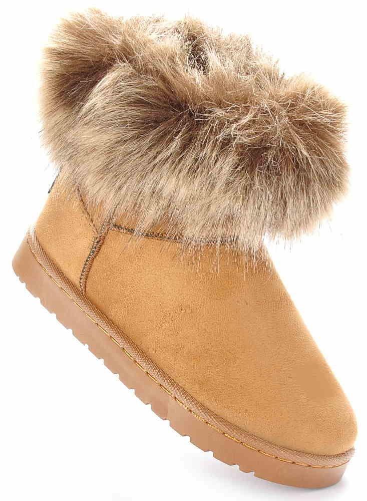 Buty dziecięce Ocieplane kozaczki mukluki Khaki D9 3 1170 S326