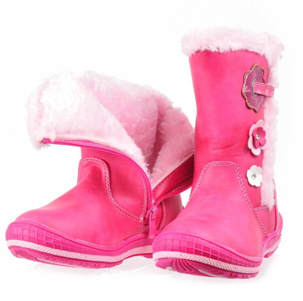 Ocieplane kozaki śniegowce dla dziewczynki FUKSJA F9 2 2595 K3