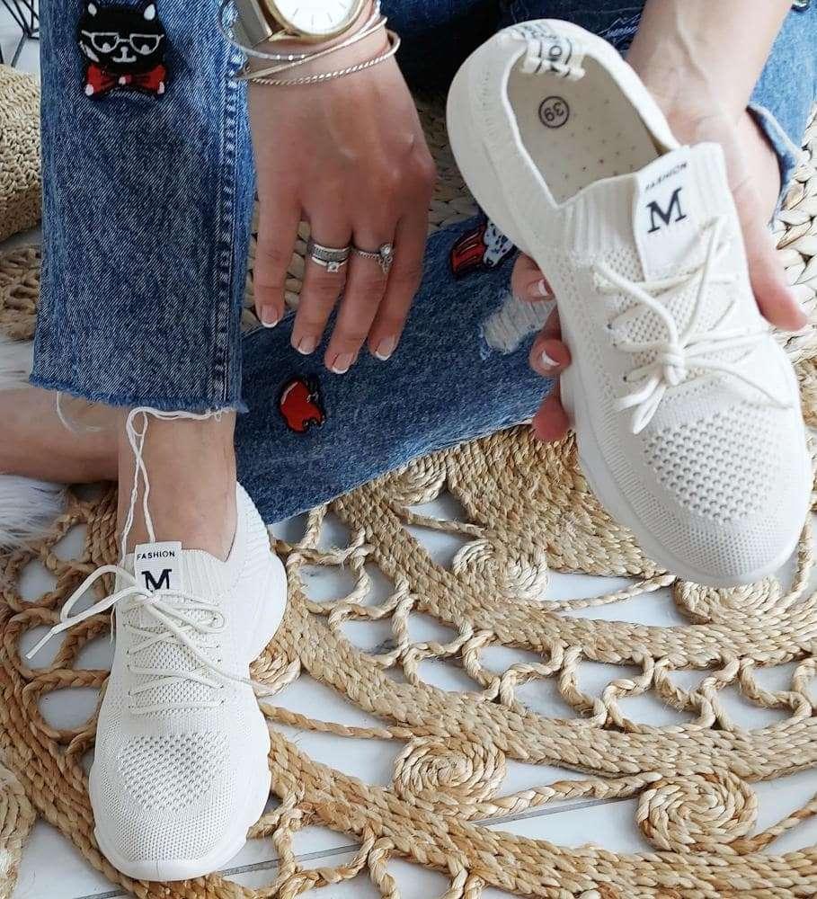 Klasyczne damskie buty sportowe Białe
