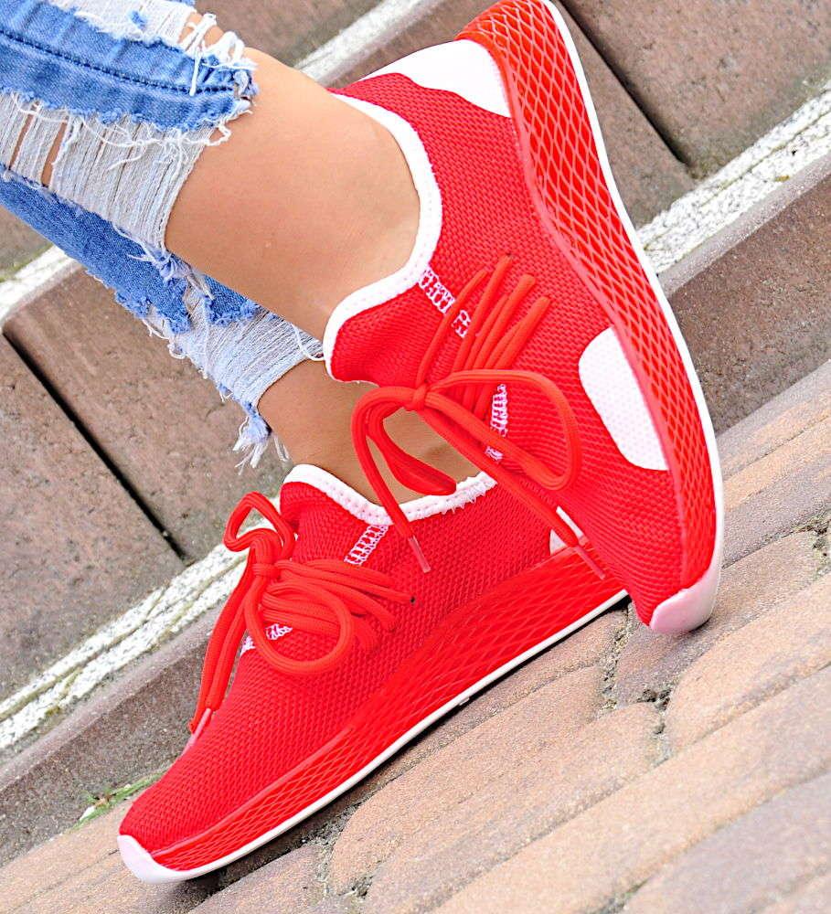 Czerwone damskie buty sportowe