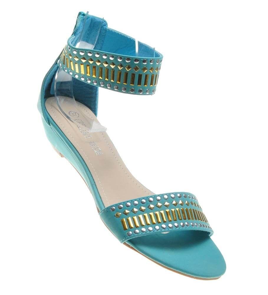 Wygodne buty na lato sandały na niskim obcasie D4 3 4657 S076