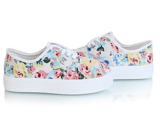 Trampki creepersy Spring White Flowers /F8-3 Y27 Tx217/