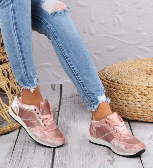 Sportowe damskie buty z dżetami Różowe A5 3 4585 S174