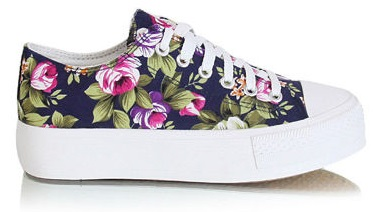 Trampki Flower navy