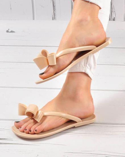 0d39bf2e Beżowe klapki japonki meliski- buty do wody /B7-1 3485 S048/