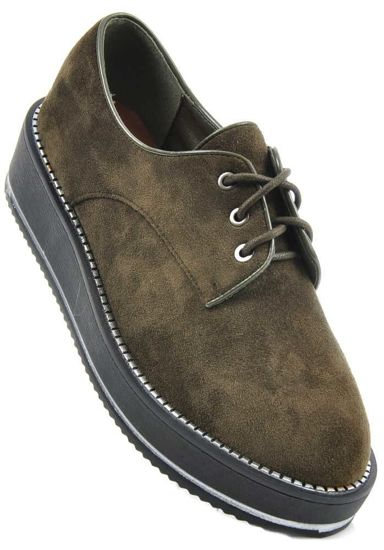 Buty na platformie- CREEPERSY Olive /G5-2 1559 S291/