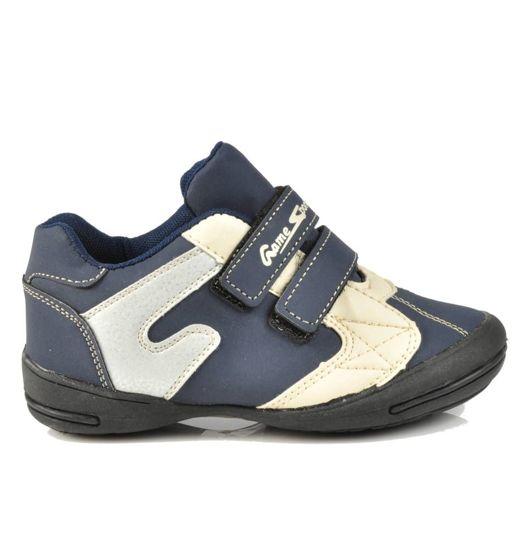 8a5ef3eaa0eab2 Chłopięce buty sportowe z rzepami GRANATOWE /C7-1 3542 S076/