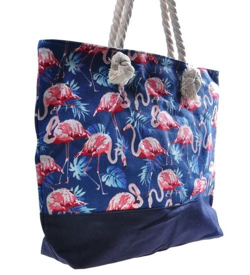 Duża plażowa torba Shopper Bag z flamingami /TR167 S192/