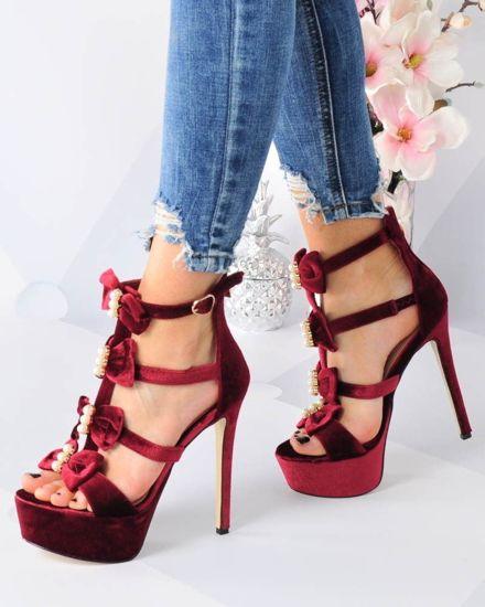 1124ab8863420 Bordowe buty – czółenka, szpilki, botki   sklep z butami Pantofelek24.pl