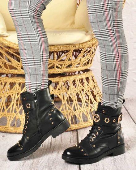 Buty z ćwiekami w motocyklowym stylu | Sklep online