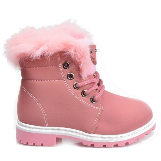 ff828abb Różowe botki trapery dla dziewczynki /A6-2 2672 S414/