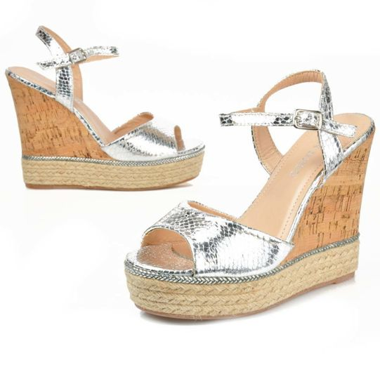 df69e1d2 Modne sandały na koturnie | Sklep online Pantofelek24.pl #4