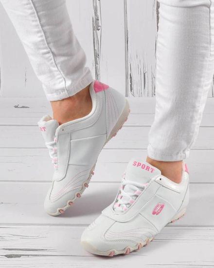 a1177523b1b55 Sportowe damskie buty z wiązaniami OUTLET /D6-1 3445 S046/