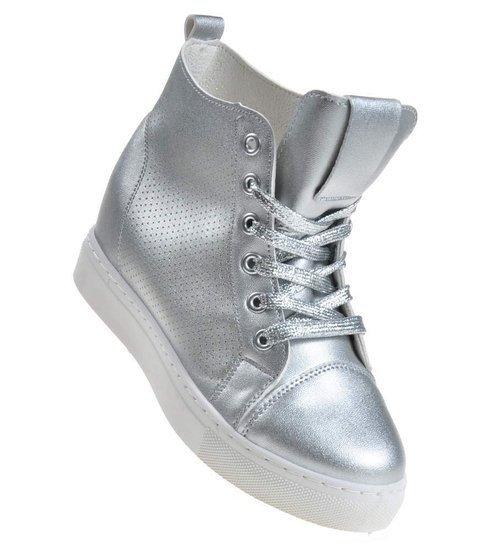 Pantofelek24.pl | Trampki sneakersy na koturnie 39