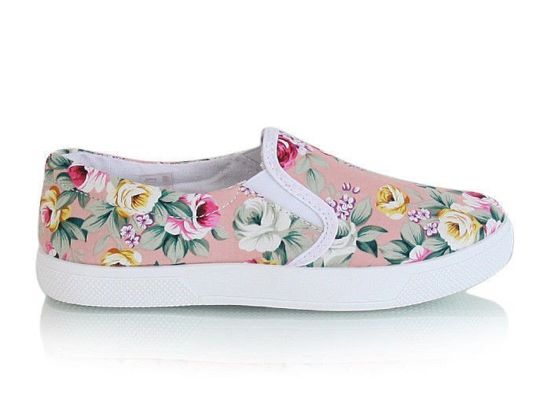 Trampki slip on Flower pink /G12-1 X11 tx233/