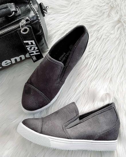 03f878f2c1673 Dodaj do porównania · Trampki slip on Szare Sneakersy koturn /C2-3 2877  K196/