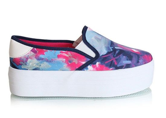Trampki slip on flores navy /F9-3 Y49 tx321/
