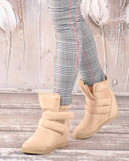 Wygodne buty damskie na koturnie BIAŁE B7 2 3725 S194