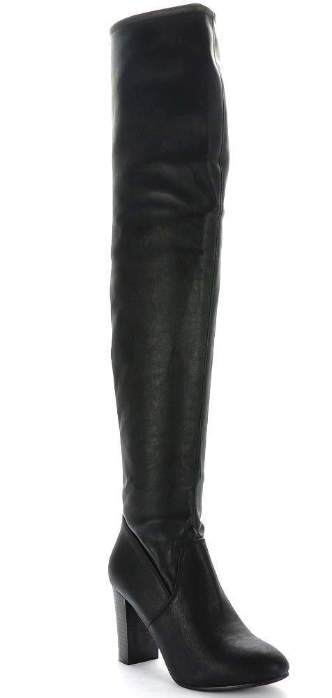Czarne botki open toe na słupku XX 1331 s542 czarny